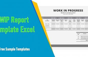 Wip Report Template Excel