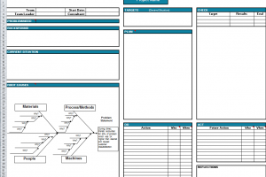 Toyota A3 Report A3 Report Template In Excel