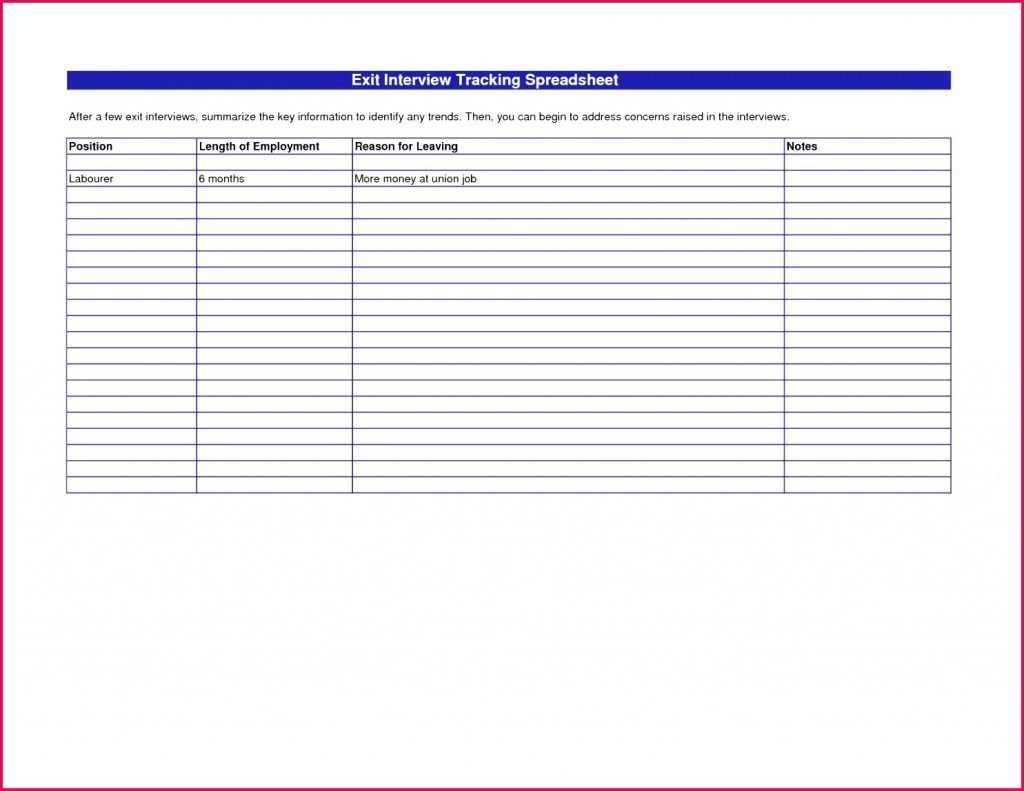 4 Applicant Tracking System Excel Template 41091