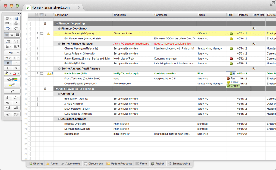 Applicant Tracking Spreadsheet Download Free Excelxo