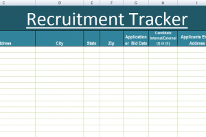 Recruitment Tracker Excel Template XLS Microsoft Excel