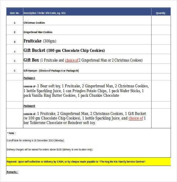 16 Bakery Order Templates Google Docs Pages Free