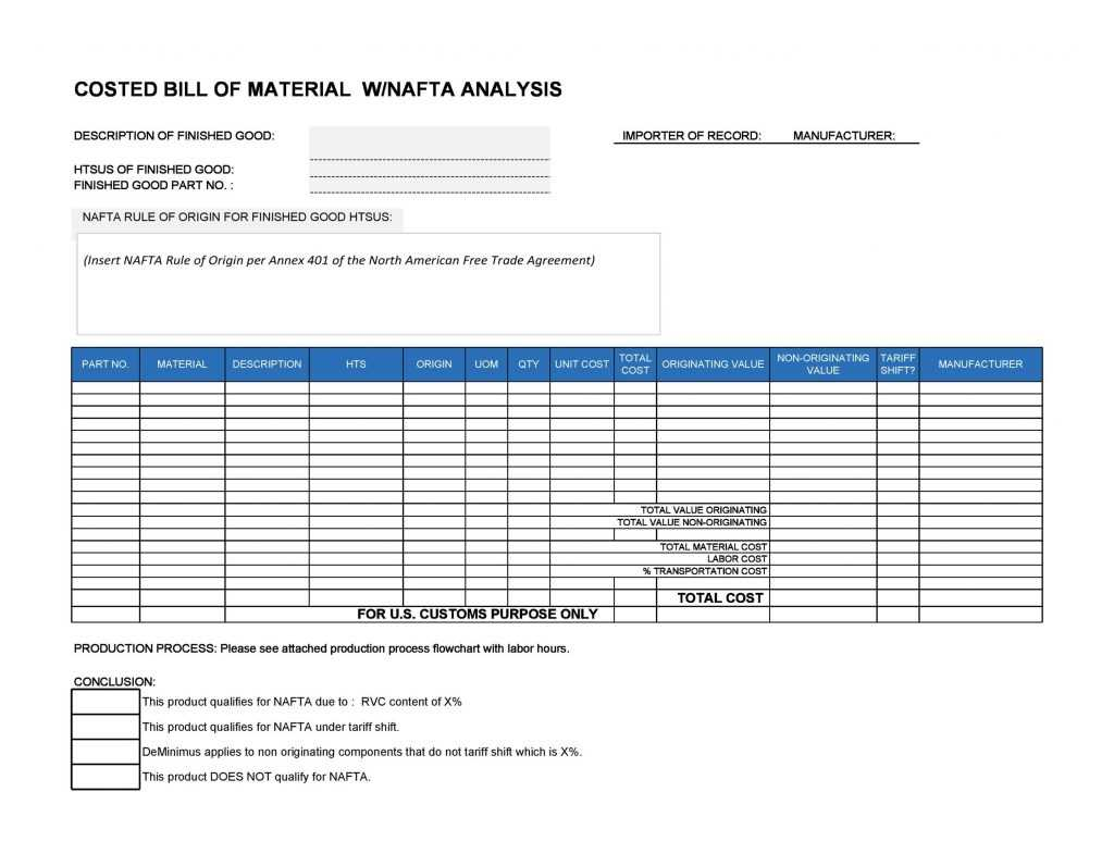 48 FREE Bill Of Material Templates Excel Word