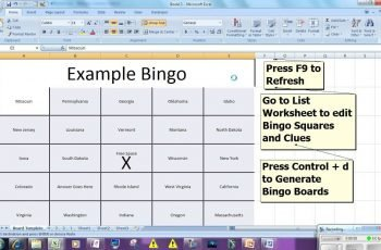 Bingo Card Generator Microsoft Excel Free Download YouTube