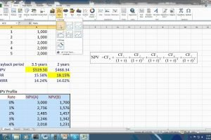 Download Capital Budgeting Microsoft Excel Template Free
