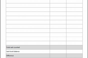 Cash Count Sheet Double Entry Bookkeeping