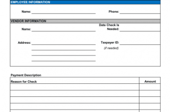 Check Request Form Template Sample Form Biztree