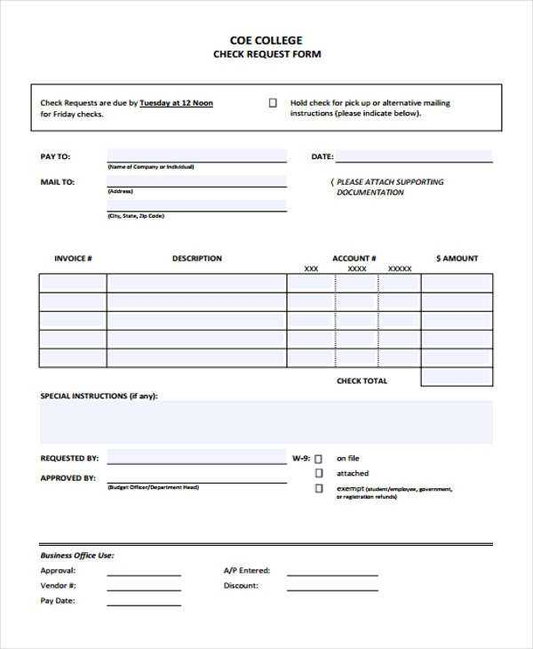 FREE 28 Check Request Forms In PDF MS Word Excel