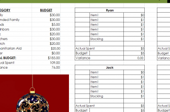 Comprehensive Christmas Gift List My Excel Templates
