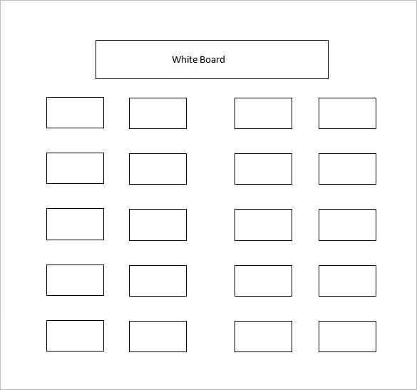 Classroom Seating Chart Template 23 Free Word Excel