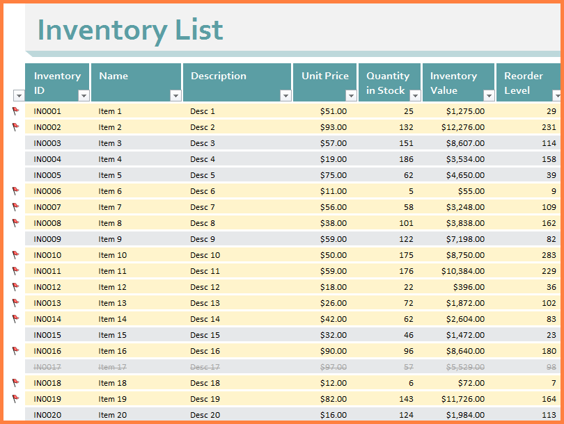 9 Clothing Inventory Spreadsheet Excel Spreadsheets Group