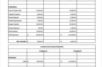 Excel Income Statement 7 Free Excel Documents Download