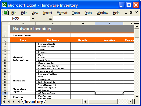 Computer Hardware Inventory Format In Excel How To Make