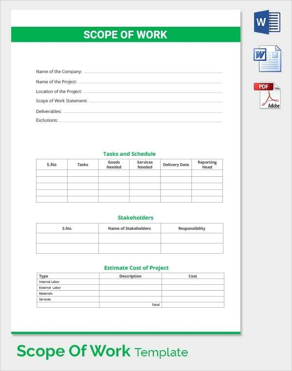 FREE 21 Sample Scope Of Work Templates In PDF MS Word