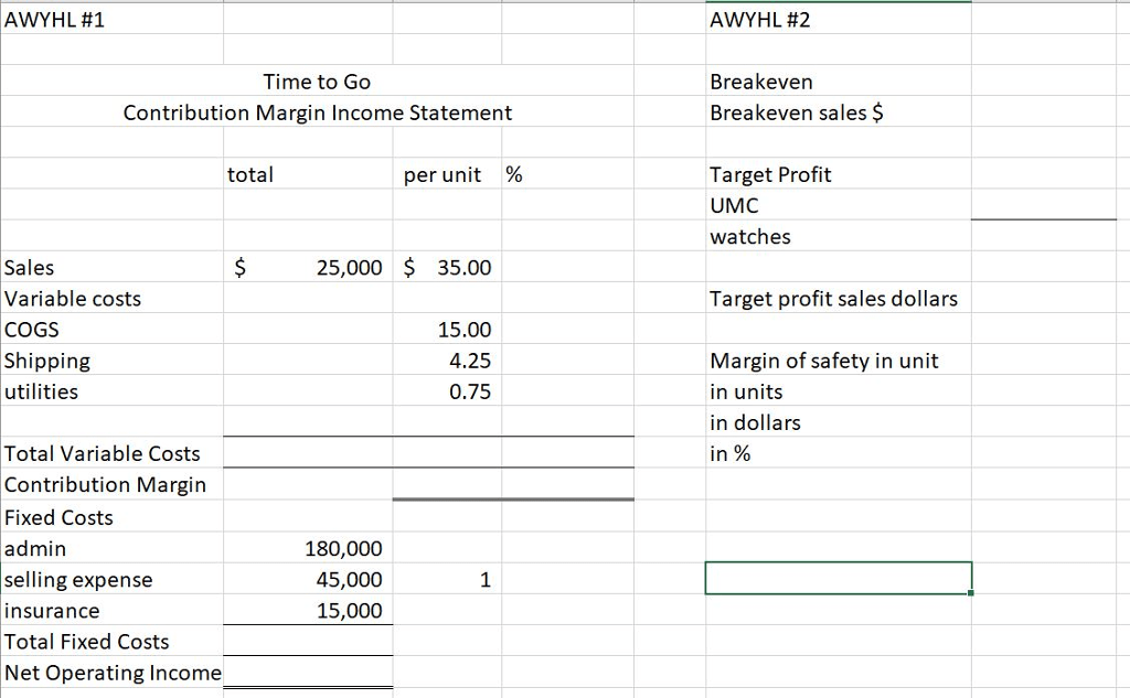 Contribution Margin Income Statement Template Excel HQ