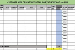 Daily Dispatch Template Excel Free Download Templates