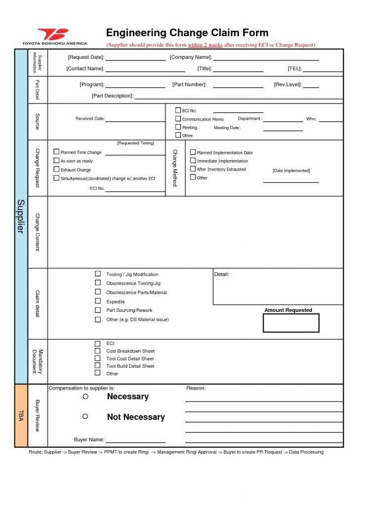 Change Request Form Template Excel Fresh Engineering