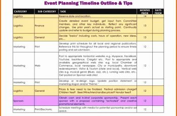 8 Free Event Planning Checklist Template Excel Excel