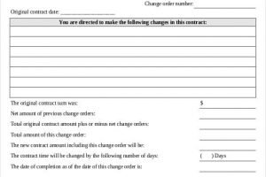 24 Change Order Templates Word PDF Google Docs Free