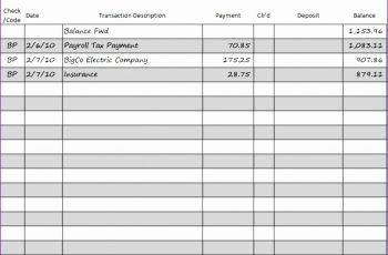 8 Checkbook Template Excel Excel Templates Excel Templates