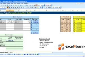 Excel Basics 019 Project Commission Spreadsheet