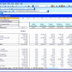 6 Cash Flow Template For Excel Excel Templates Excel