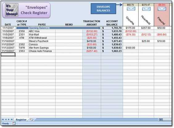 Free Dave Ramsey Excel Spreadsheet To Use As An Envelopes