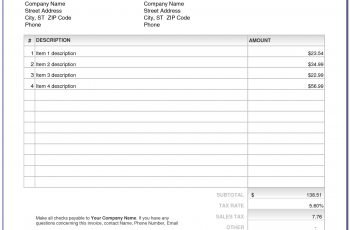 Invoice Template In Excel Format Free Download Template