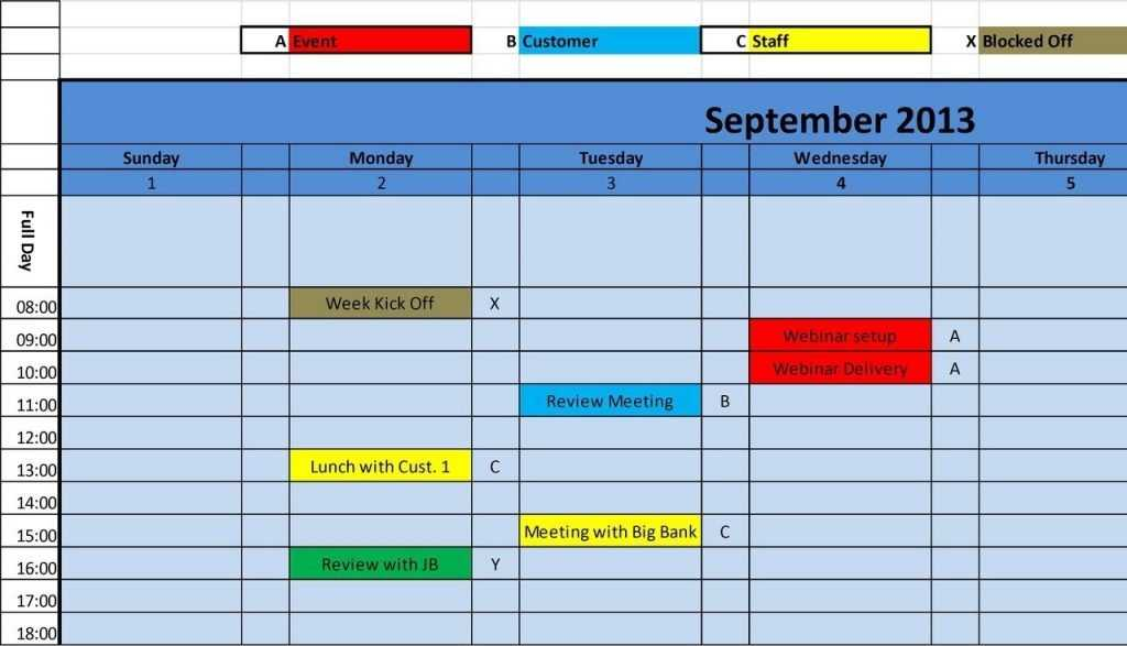 Best Photos Of Monthly Calendar Template Excel Monthly