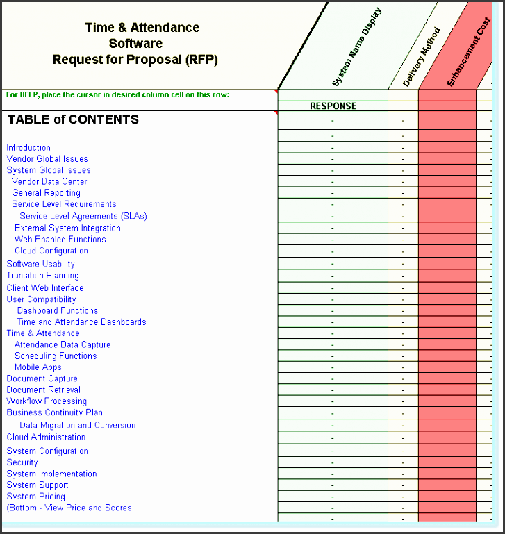 11 Table Of Contents Template In Excel SampleTemplatess