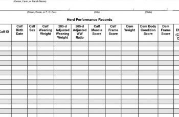 Sheep Record Keeping Spreadsheet Within Farm Record