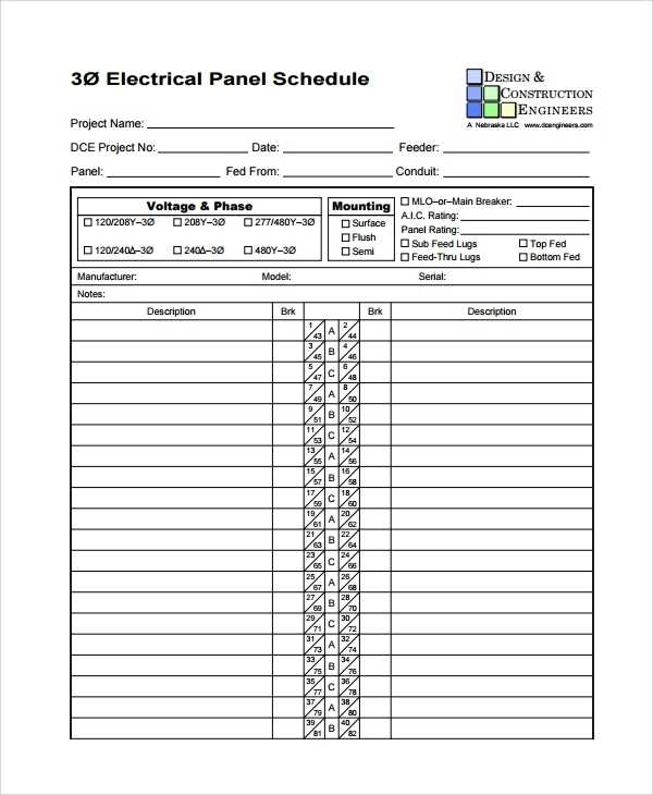 FREE 7 Sample Panel Schedule Templates In PDF