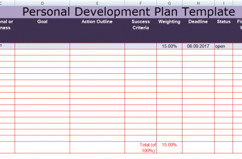 Get Personal Development Plan Template Excel Excel