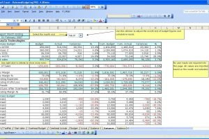 Information Technology Budget Template Excel Natural