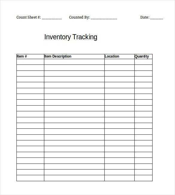 Inventory Template 25 Free Word Excel PDF Documents