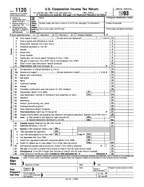Editable 1120 Form Templates To Complete Online Us irs