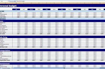 Excel Templates Personal Finances How To Find Excel
