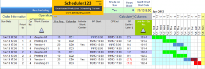 Production Schedule Template Production Scheduling In