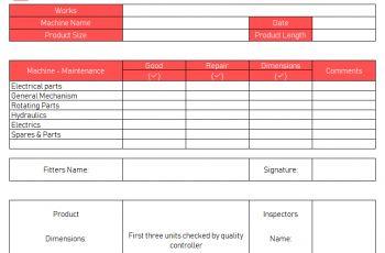 Maintenance Checklist Template 10 Daily Weekly