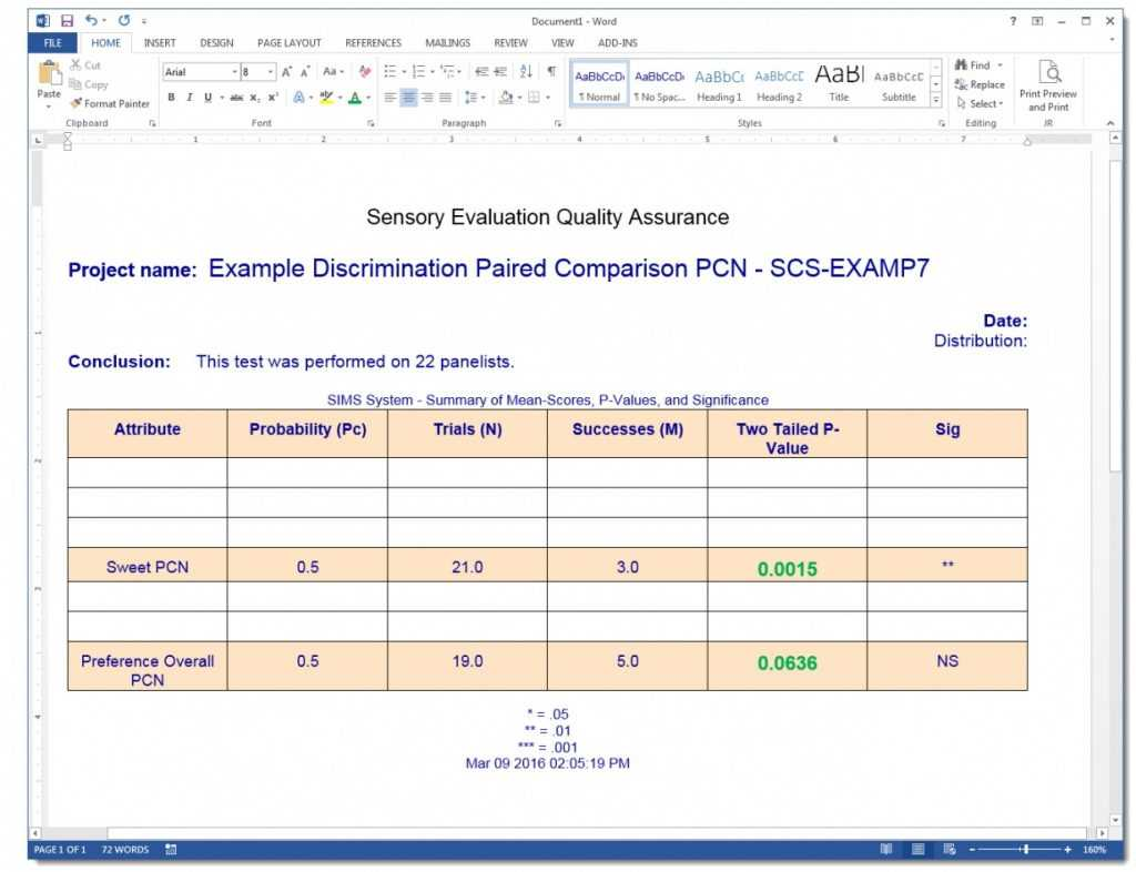Paired Comparison Analysis Excel Template