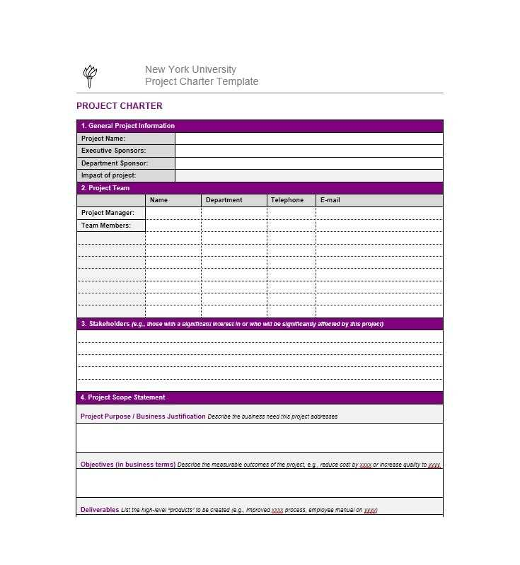 40 Project Charter Templates Samples Excel Word