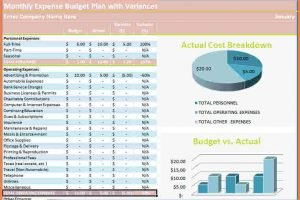4 Project Expense Tracking Spreadsheet Excel