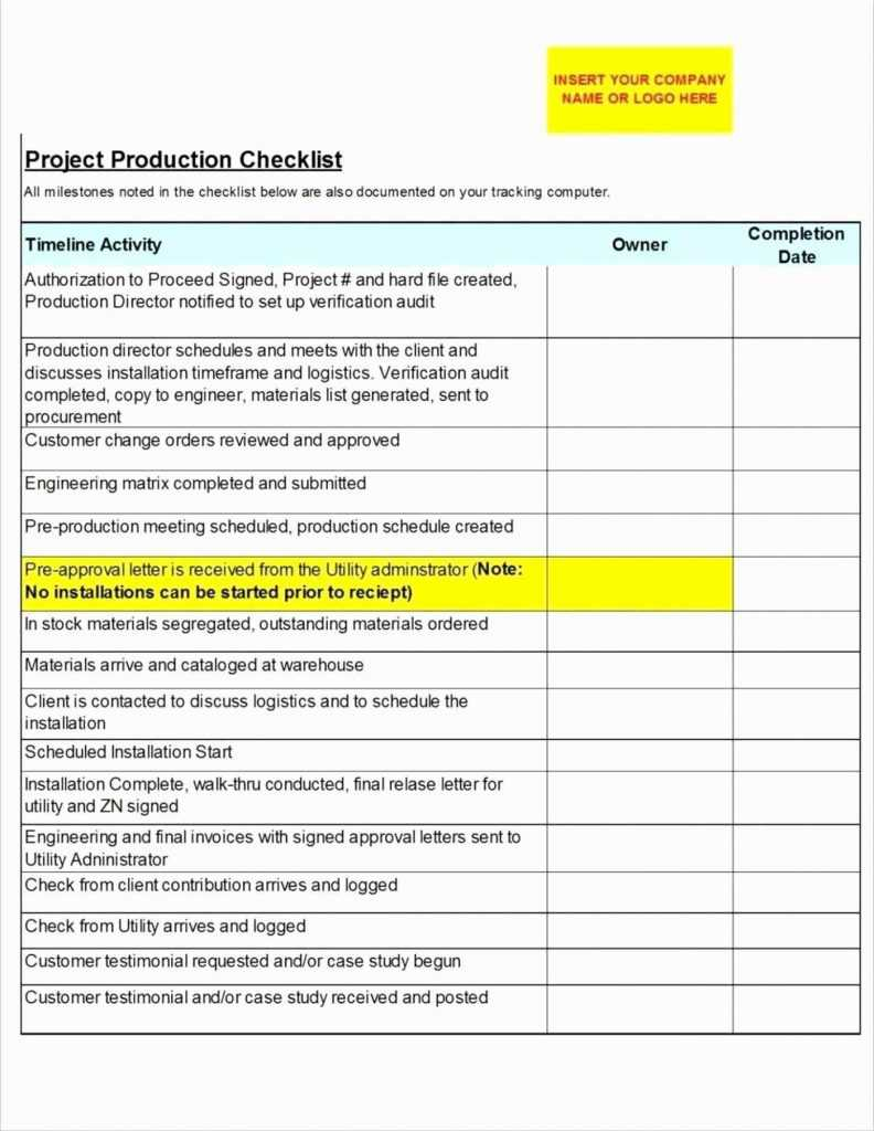 Project Implementation Plan Template Excel Glendale