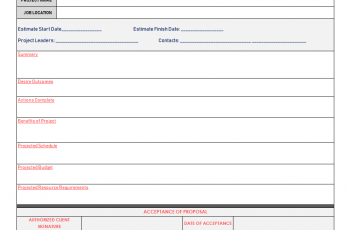 Project Proposal Templates Free Excel PDF Example Download