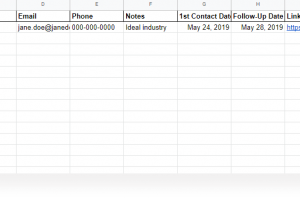 Prospect List Template For Sales