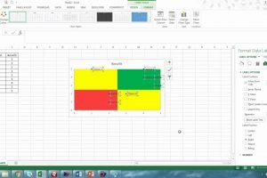 Multi colored Quadrant Chart In Excel YouTube