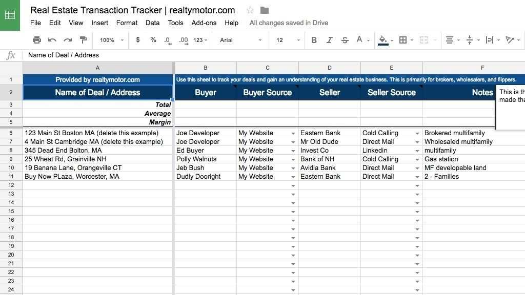 Real Estate Lead Tracking Excel Template For Your Needs