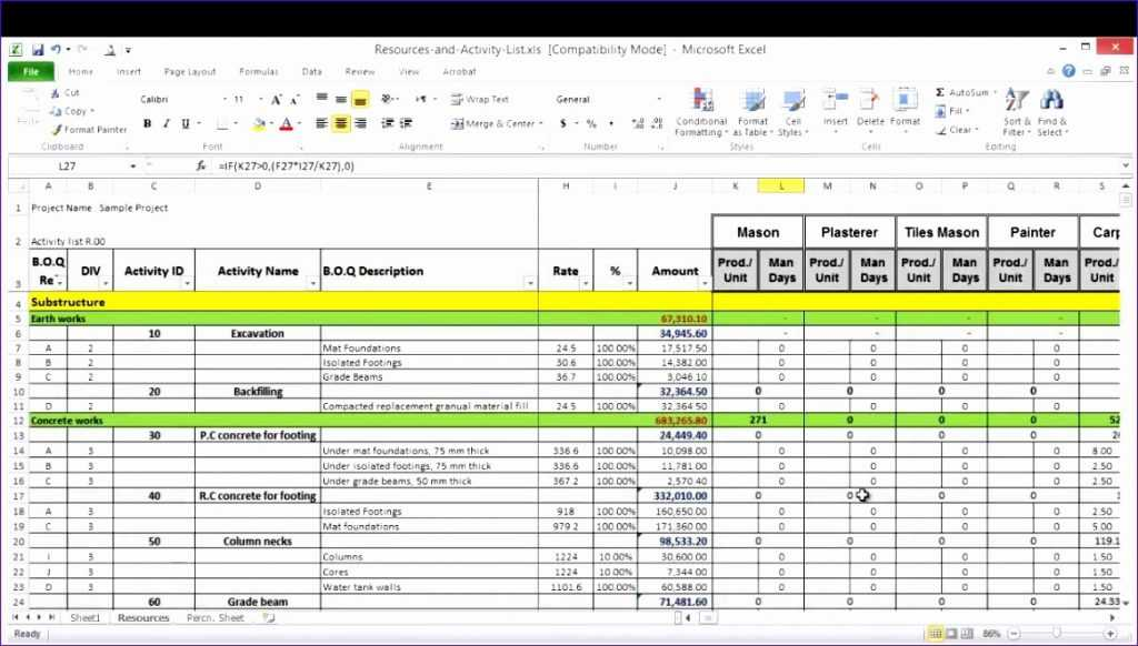 6 Resource Capacity Planning Excel Template