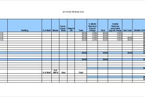 Payroll Budget Template Charlotte Clergy Coalition