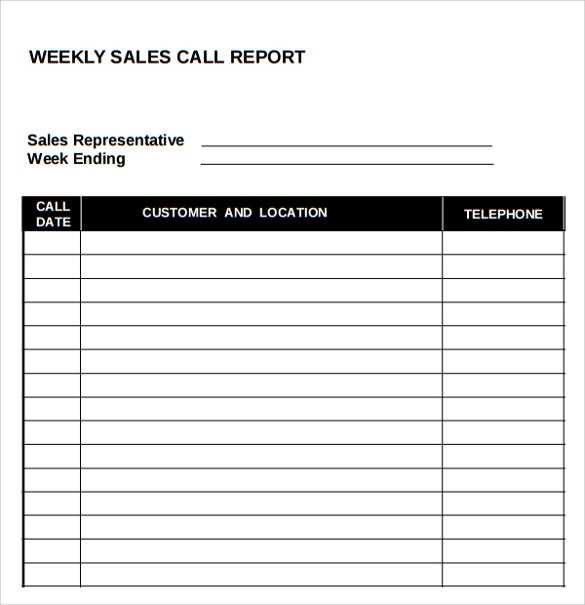 FREE 14 Sample Sales Call Reports In PDF MS Word